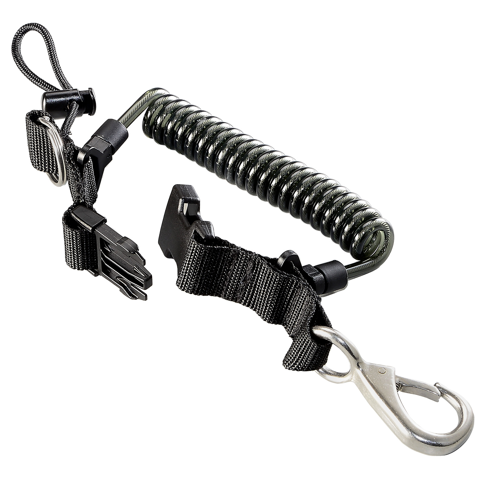 Stainless Wire-Reinforced Coil Lanyard