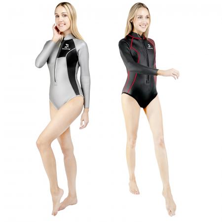 2MM女性用フリーダイビングスプリングスーツ